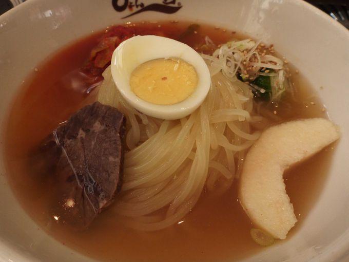 コシの強い麺の盛岡冷麺