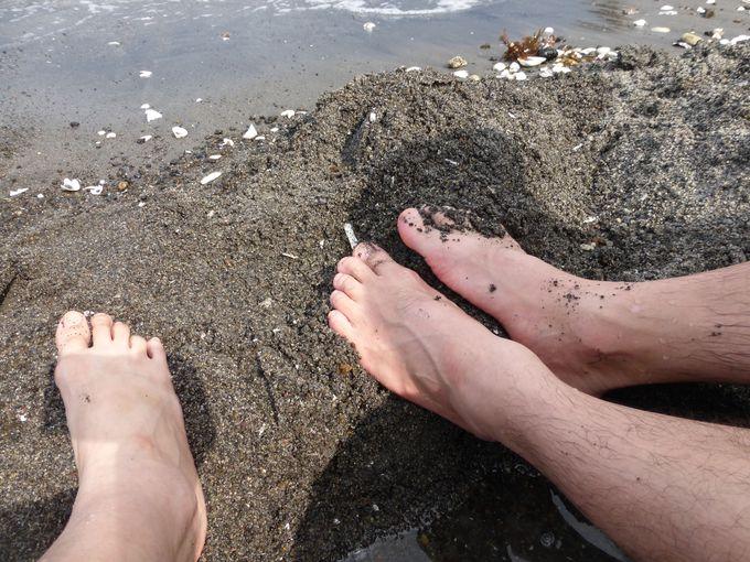 天然砂足湯の場所
