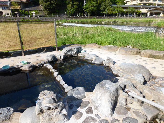 無料の露天風呂「河原風呂」