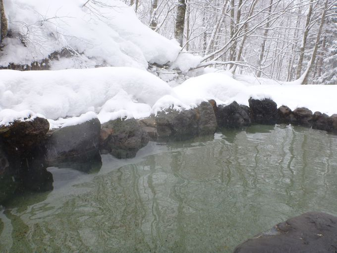 雪見の露天風呂も素晴らしい