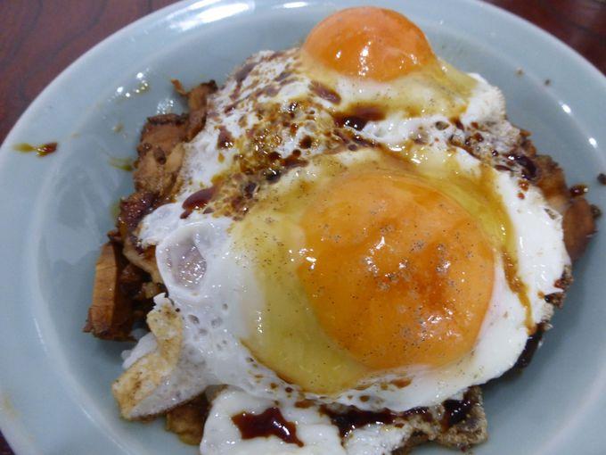 ガッツリ系ご飯モノ「焼豚玉子飯」
