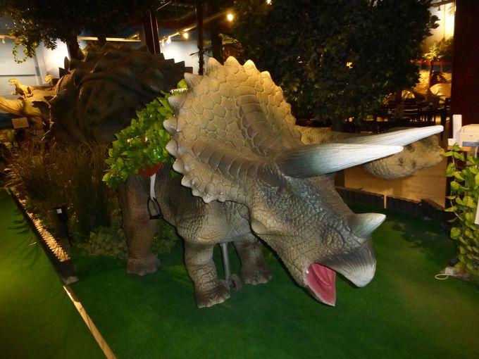 イベントでは動く恐竜に乗って店内一周!