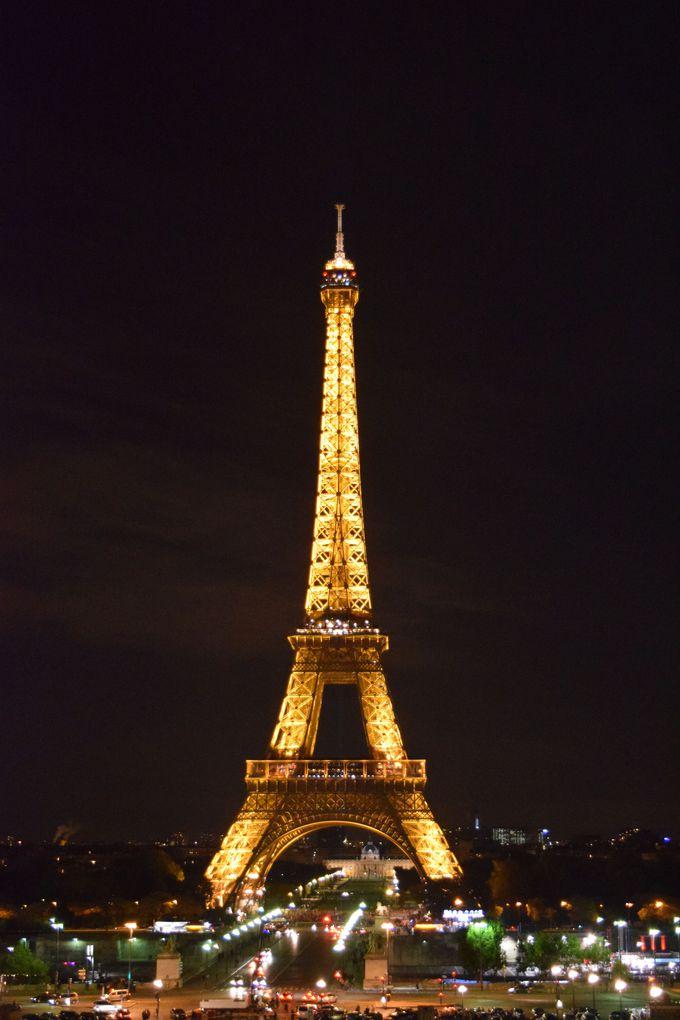 パリと言えば!エッフェル塔でまずは「乾杯」♪