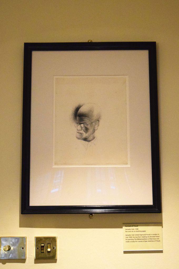 画家ダリによるフロイトの肖像画も