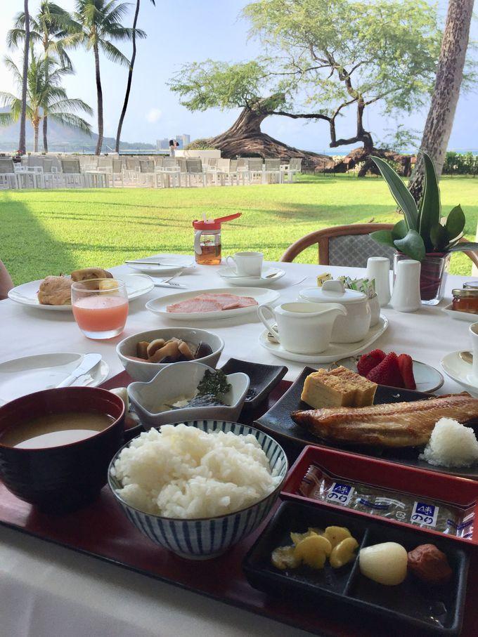 ハワイで敢えての和朝食はハレクラニで!