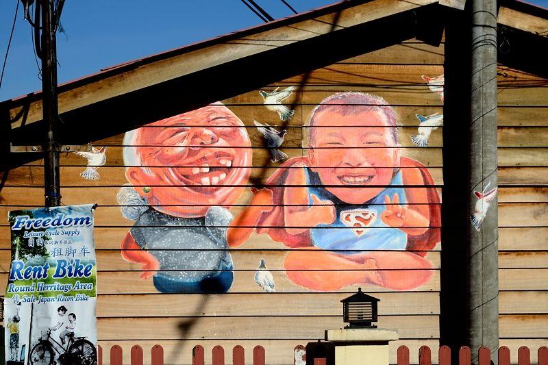 木造建築にも描かれるアート