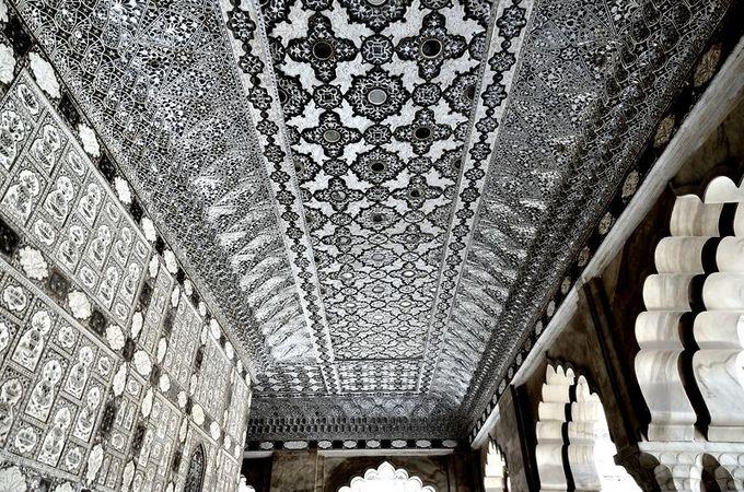 10.アンベール城 ガネーシャ門とジャイ・マンディル(ジャイプール)