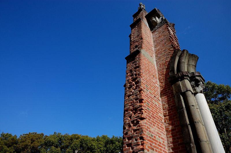キリシタンの誇りの遺構「浦上天主堂遺壁」