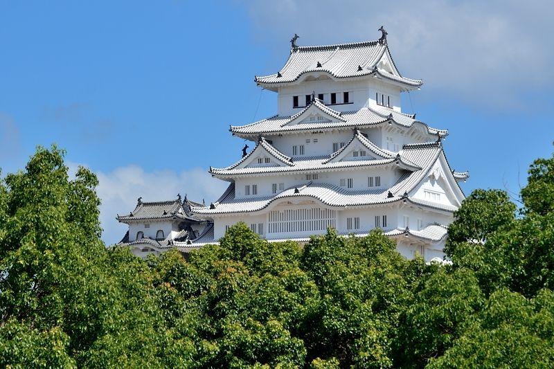 城見台公園から見る「白すぎ城」