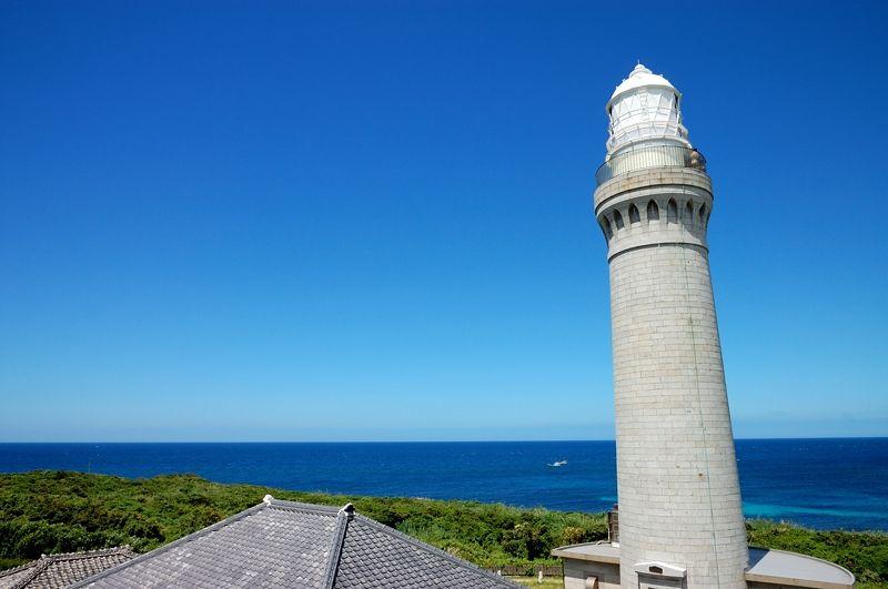 角島のシンボル!白き洋式灯台