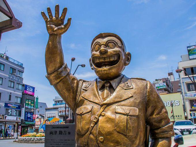 亀有駅前に両さんの銅像!「両津勘吉像」はまさに必見!