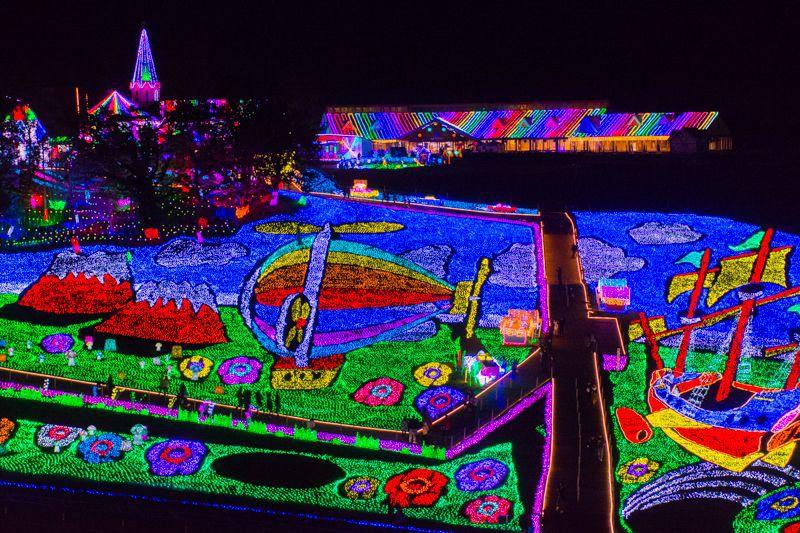 東京ドイツ村ならでは!圧巻の「3Dイルミネーション」