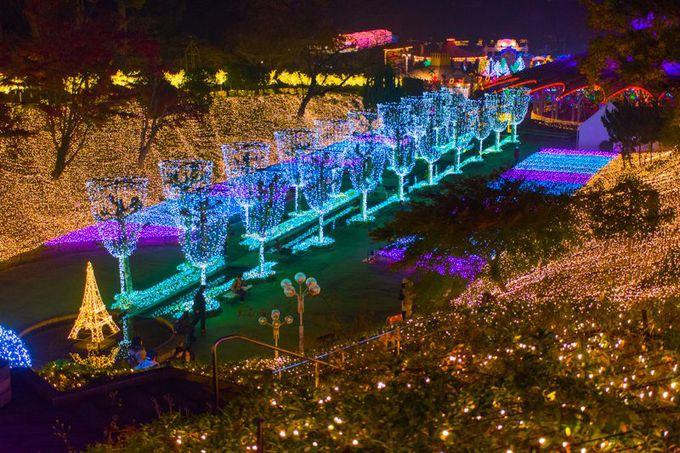 西武園ゆうえんちのイルミネーションは埼玉県最大規模!