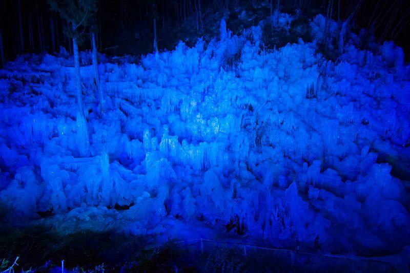 ライトアップが美しすぎる!「あしがくぼの氷柱」は夜も必見!