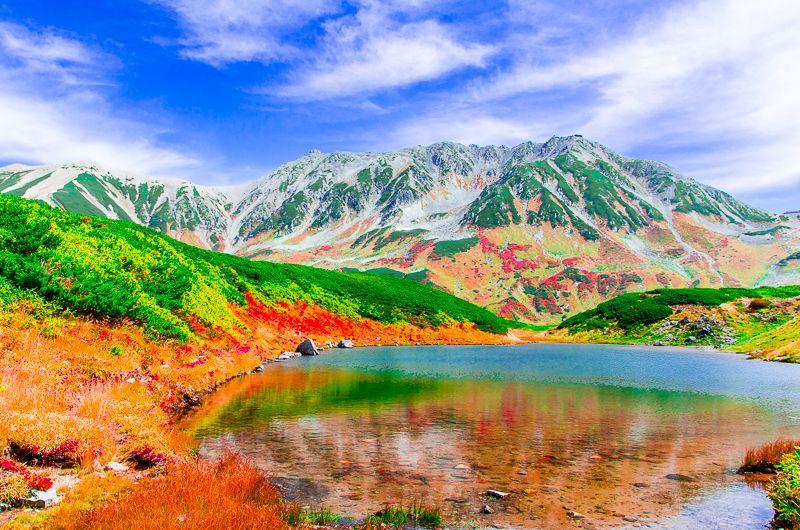 これぞ秋の室堂!「みくりが池」と紅葉と立山