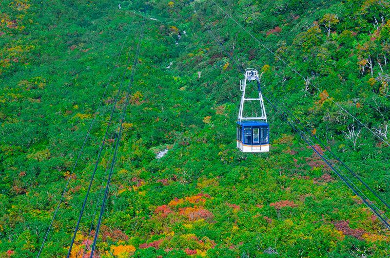 立山黒部アルペンルート「ロープウェイ」と紅葉