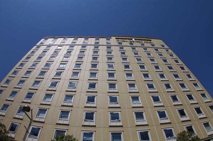 汐留イタリア街に位置するホテル
