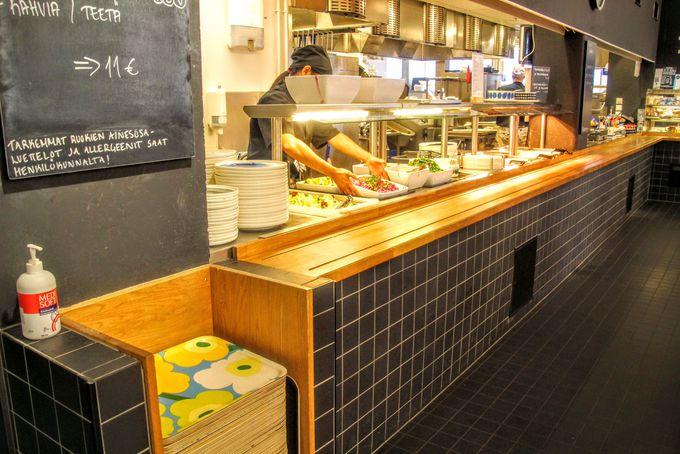 マリメッコ社員も利用する社員食堂