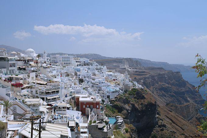午後(1):島内最大の街「フィラ(Fira)」を観光