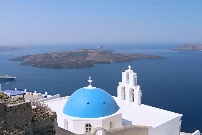 午後(2):フィロステファニ(Firostefani)であの有名な景色を!