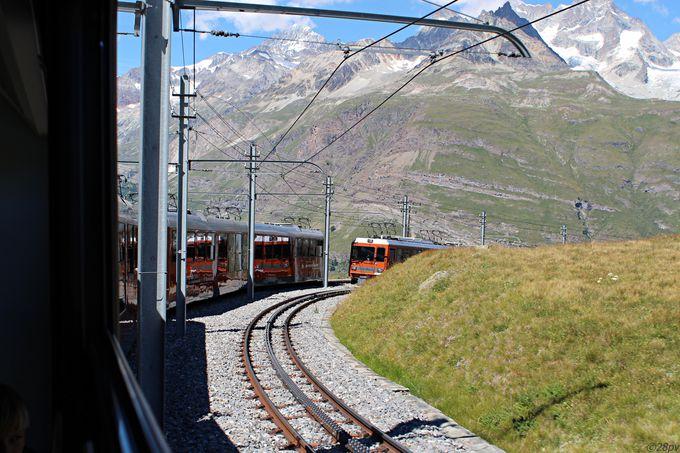 登山鉄道でスイス有数の展望台へ!