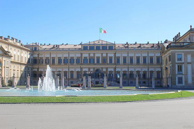ハプスブルク家により建造された、豪華な「モンツァ王宮」