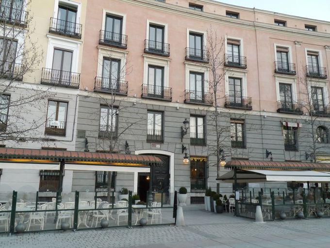王宮のあるオリエンテ広場に位置する「ホステル・セントラル・パレス・マドリード」