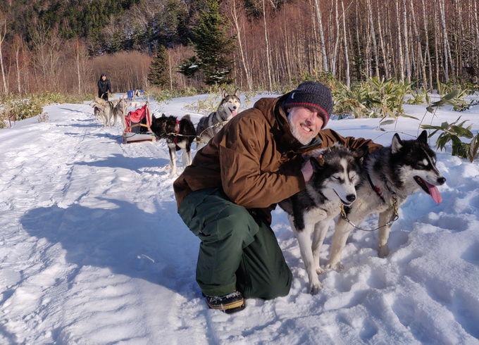 スリルも満点!雪の大地を犬ぞりで走る