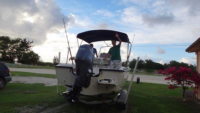 ショップからボートに乗って出発!