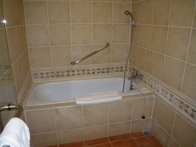 ハンドシャワーと広い洗い場がありがたい!