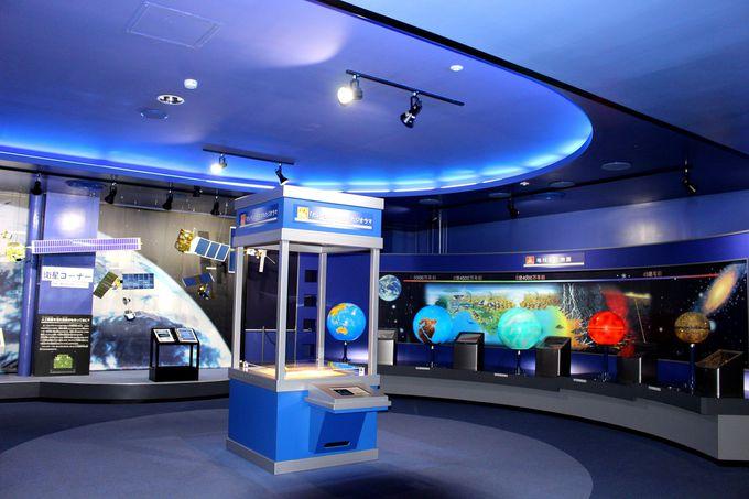 まるで宇宙空間な展示室