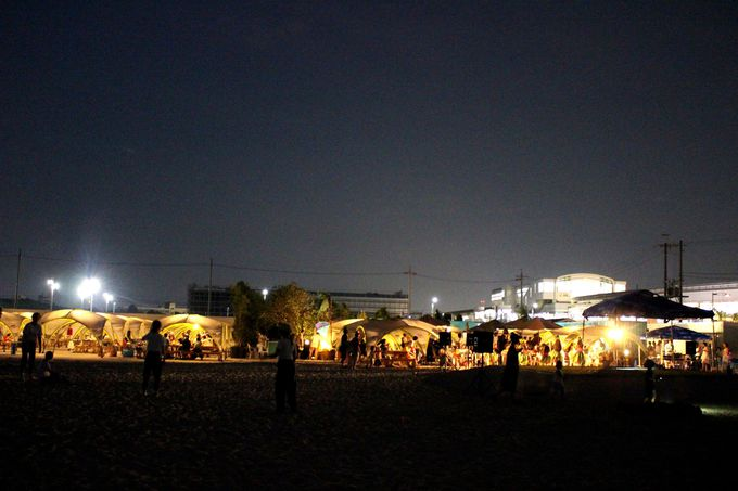 夜だって安心して楽しめる「タチヒビーチ」