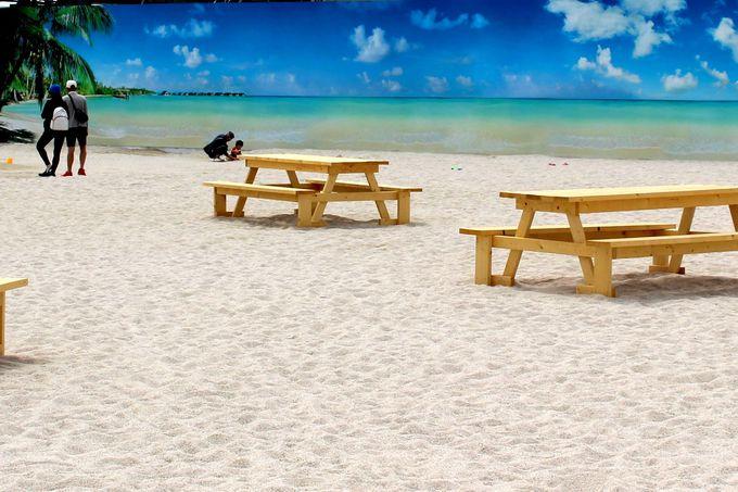 白い砂浜の新名所《タチヒビーチ》立川市