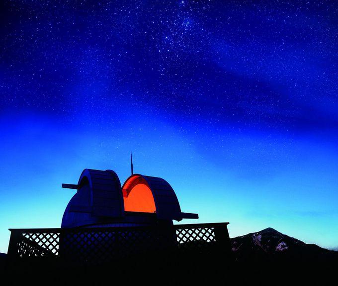 屋上には天体ドーム!無料で天体観測を楽しめる!