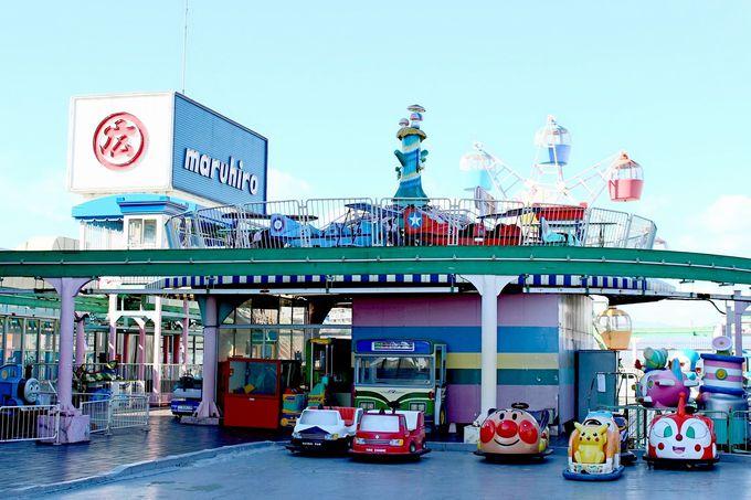昭和43年オープンの屋上遊園地「わんぱくランド」