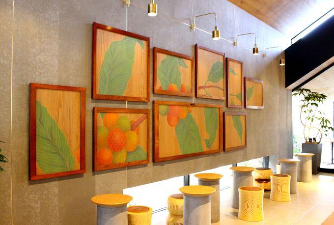 日本伝統とコーヒーをつなぐアートも見逃せない