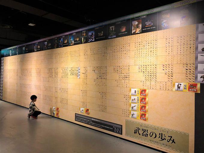 モンスターハンター15年の歴史を振り返る「展示エリア」