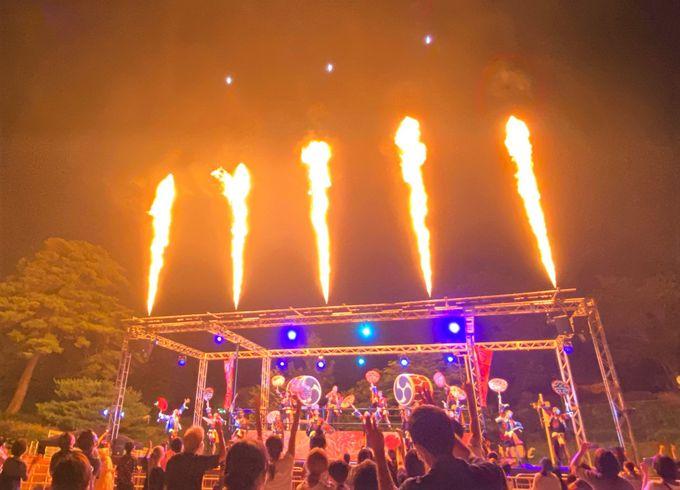 花火の密度がすごい!圧巻の「大火祭り」