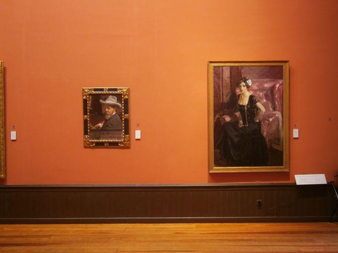 画家自身や家族の肖像画もたくさん展示!