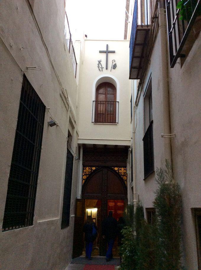 いくつかの異なる様式が共存する教会