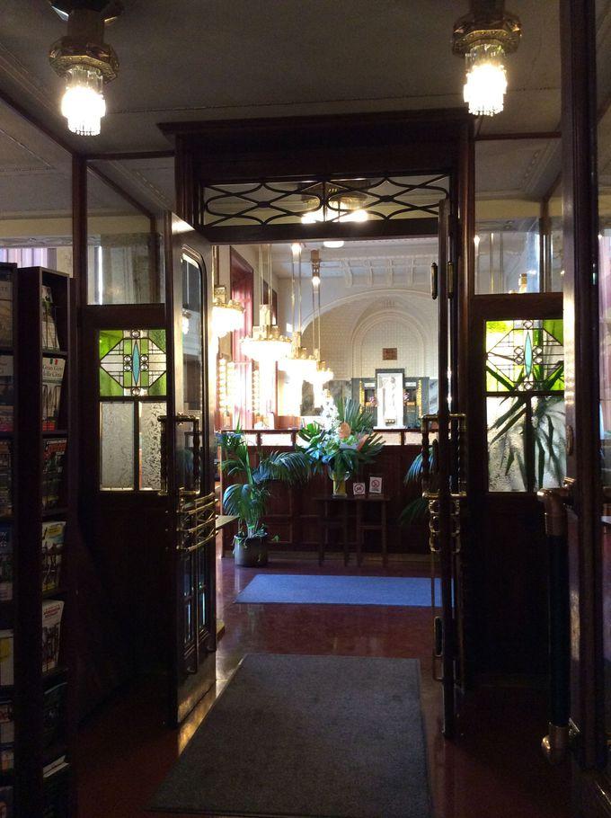 市民会館内のカフェ「カヴァルナ・オベツニー・ドゥーム」