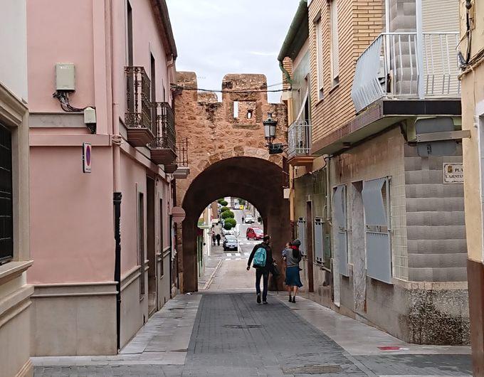 中世の遺物の残る街並み