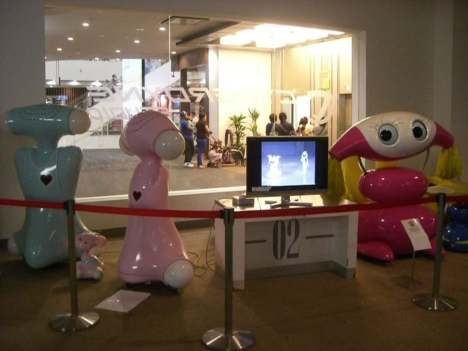 サイバーダインスタジオには「芙蓉ロボットシアター」のロボット達が!