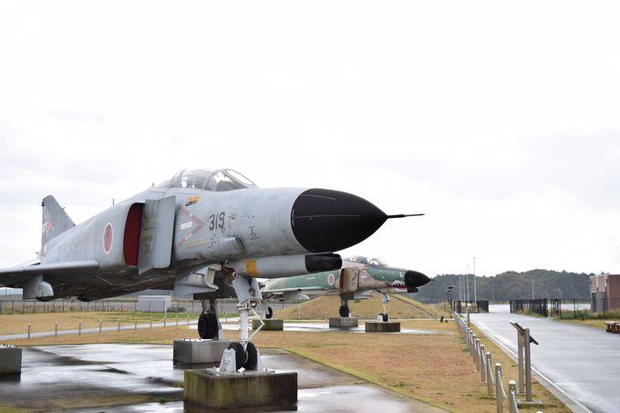 本物の戦闘機や偵察機を展示!