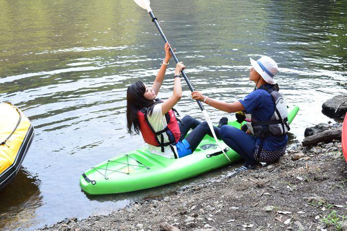 さあ、カヌーを漕ぎだして贅沢なひとときへ!