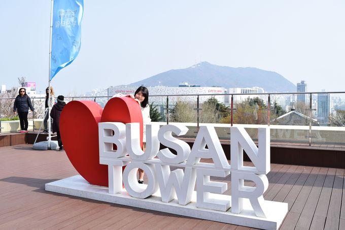 高さ118m!釜山のシンボル「釜山タワー」