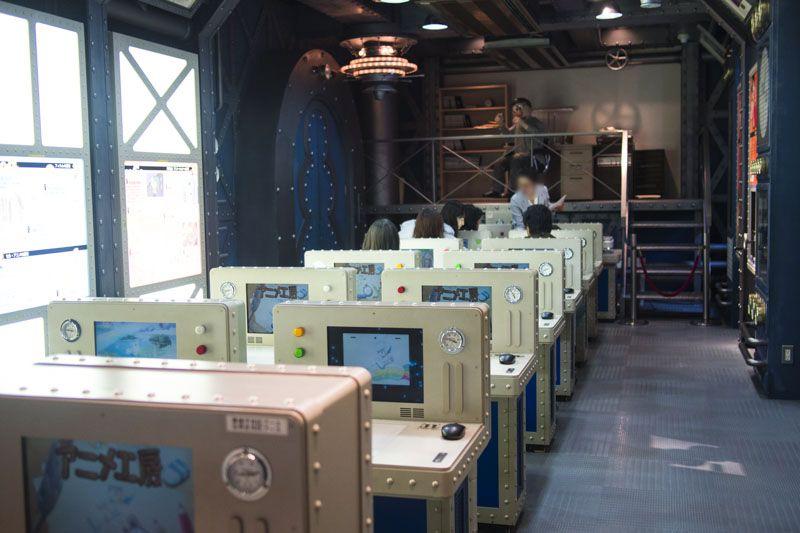 実際にコンピュータでアニメが作れる「アニメ工房」