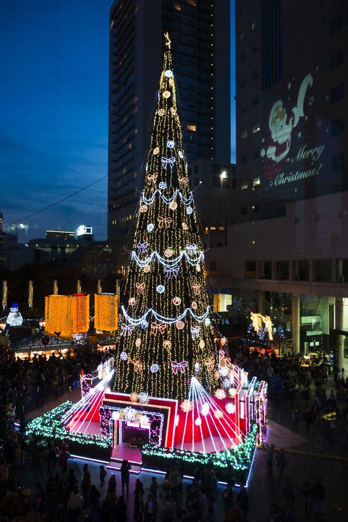 世界最大級のツリーがある梅田スカイビルのドイツクリスマスマーケット