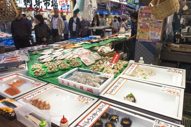 【1日目:昼食】「近江町市場」で食べたい海鮮類