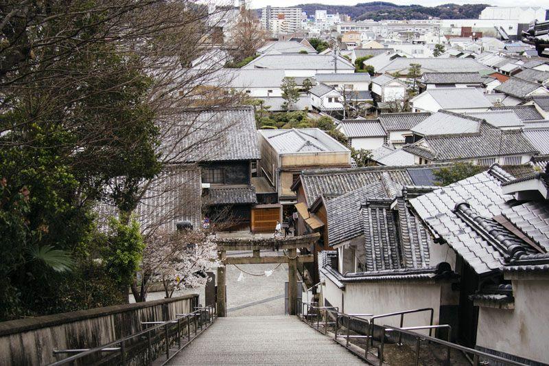倉敷の街を一望できる阿智神社と鶴形山公園